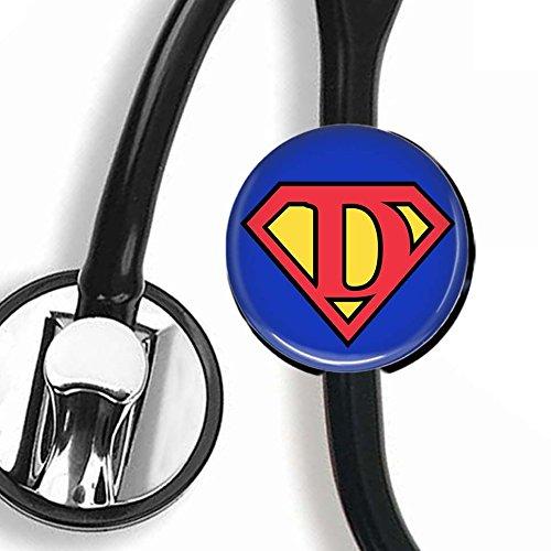 Stethoscope ID Tag - Superman Letter