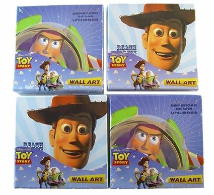 Amazon.com: Disney Toy Story Wall Art Set - Toy Story Buzz n Woody ...