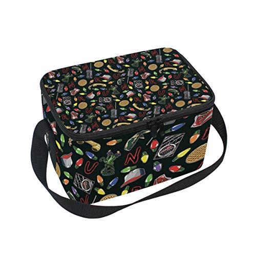 [해외]Lunch Bag Stranger Things Lunchbox for Travel Picnic Tote Handbag Shoulder Strap Women Teens Girls Kids Adults / Lunch Bag Stranger Things Lunchbox for Travel Picnic Tote Handbag Shoulder Strap Women Teens Girls Kids Adults