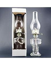 NEW 32CM Glass Transparent Kerosene lamp Vintage Retro Buddha Glass Wedding Festival Decoration Oil Lamps