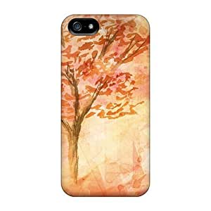 For GoldenArea Iphone Protective Case, High Quality For Iphone 5/5s Fall In October Skin Case Cover