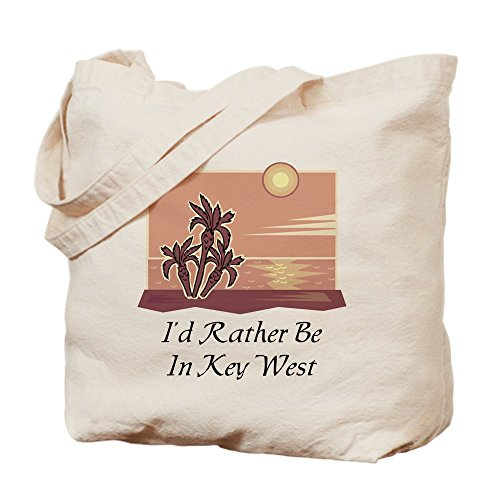 CafePress - Key West - Natural Canvas Tote Bag, Cloth Shopping - Shopping West Key In Best