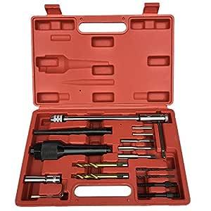 Machine Supplies Kit de Herramientas extractoras de daños para Quitar Tapones Que Brillan, Compatible con remociones de 8 mm y 10 mm