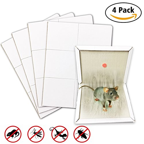 Glue Traps for Mice, Thickened Glue Traps Sold by Aucor Extra Strength Adhesive Rat Glue Traps Mice Traps for Lizard, Spider, Snake, Rodent, Pests, Insect, roach, Ant, Repellent, Home Pests (White)