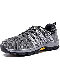 Eclimb Men's Athletic Steel Toe Slip-Resistant Work Shoe