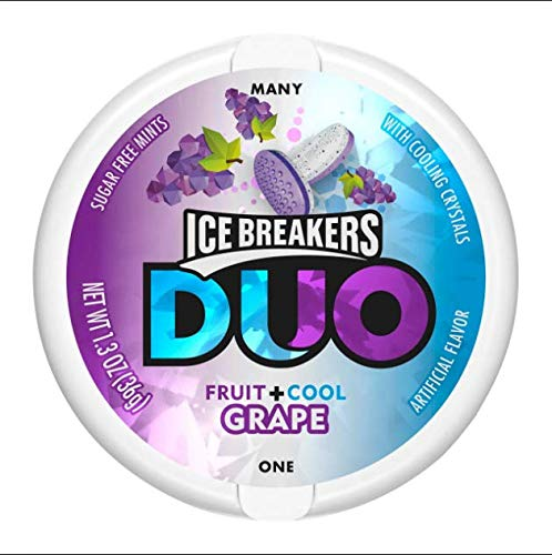 ICE BREAKERS Duo Sugar Free Mints, Grape, 1.3 Ounce (Pack of 24)(uscandyonline) by EXYL