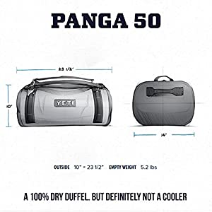 YETI Panga 50 Airtight Waterproof Submersible Duffel Bag, Storm Gray