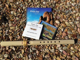 Windpony Key of A 6-hole Unfinished Poplar Native American Style Flute with Book and 2 Cd's Starter Kit