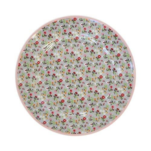Krasilnikoff piatto mille fleurs grey