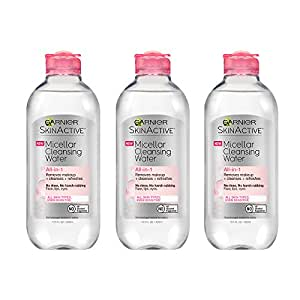 Garnier SkinActive Micellar Cleansing Water, For All Skin Types,  3 Count