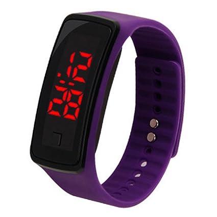 Auntwhale 1 PC Reloj deportivo LED digital de moda Reloj de silicona unisex Multi color opcional
