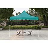 American Phoenix Canopy Tent 10x10 Easy Pop Up Instant Portable Event Commercial Fair Shelter Wedding Party Tent (Teal, 10x10)