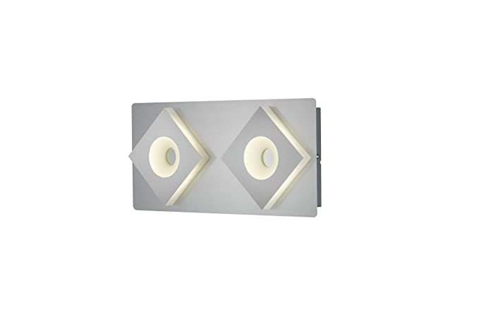 Trio atlanta applique led luci rettangolare con interruttore