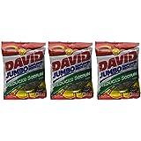 David Jumbo Reduced Sodium Sunflower Seeds, Roasted and Salted (3 Pack) 5.25 oz each