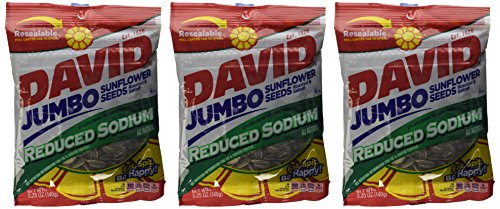 David Sunflower Jumbo Seeds Reduced Sodium 5.25 Ounce (Pack of 3)