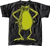 Dr. Seuss No Head Grinch Body Costume Black Adult T-shirt Tee