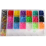 OrangeTag OrangeTagTM 2200 Colourful Rainbow Rubber Loom Bands Bracelet Making Kit Set with a Convenient Carrying Case