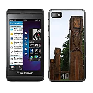 Hot Style Cell Phone PC Hard Case Cover // M00308990 Plaza Mountains Village Tarija // BlackBerry Z10