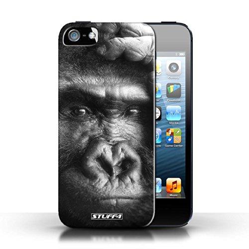 Kobalt® protector duro de nuevo caso / cubierta para el Apple iPhone 5/5S | Gorila/del mono Diseño | Animales de zoológico mono colección