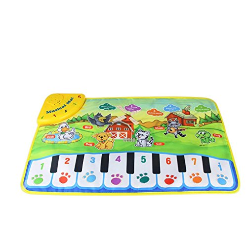 Baby Musical Cartoon Animal Piano Play Mat Language Learning Toy - 4