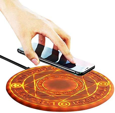 Brown Adapter NOT Included 10w Ultra-Thin Qi Wireless Charging Pad Magic Array Wireless Charger Compatible for iPhone 11 pro MAX //X//XS//MAX//8//8 Plus//Galaxy Note 9//S9//S10e Plus Edge More