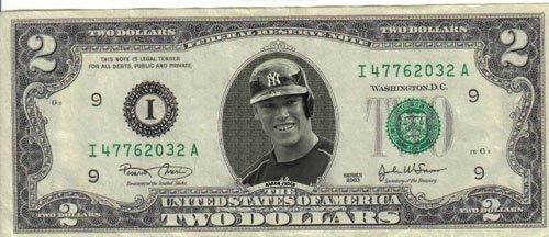 Yankees Aaron Judge $2 Dollar Bill Mint! Rare! $1