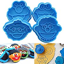 Lovely Mold :4x Elmo Fondant Cake Cupcake Decorating Cookie Biscuit Plunger Cutter Mold Tools by Sesame Street