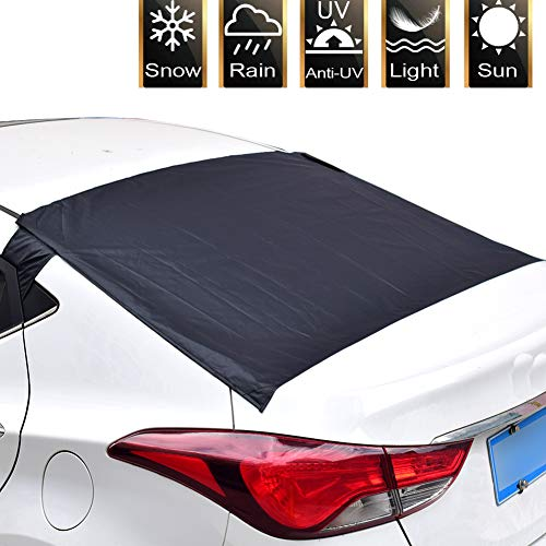 FEENM Car Rear Windshield Snow Cover Rear Windscreen Snow Cover Ice & Sun Shade Protector Exterior Shield Guard for Car SUV CRV ()