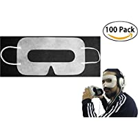 [100pcs] INKECI Disposable Face Cover Mask, Sanitary Mask for HTC Vive/PS VR/Gear VR/Oculus Rift- Prevent Eye Infections
