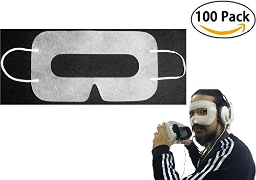 [100pcs]INKECI Disposable Face Cover Mask, Sanitary Mask for HTC Vive/ PS VR/ Gear VR/ Oculus Rift- Prevent Eye Infections