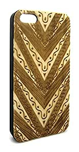 Genuine Maple Wood Organic Tribal Aztec Pattern Snap-On Cover Hard Case for iPhone 5C