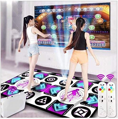 LEDワイヤレスダブルダンスマット、Wii泡ゲームマット、厚い防音クッション