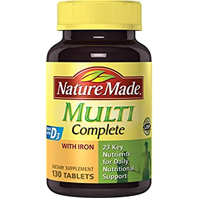 Nature Made Multi Complete with Iron 130 Tablets - 4006025 , B001KYO3Z8 , 454_B001KYO3Z8 , 11.69 , Nature-Made-Multi-Complete-with-Iron-130-Tablets-454_B001KYO3Z8 , usexpress.vn , Nature Made Multi Complete with Iron 130 Tablets