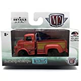 M2 Machines 1958 Dodge COE Truck (Bright Red & Gold Panels) Auto-Trucks Series Release 38-2016 Castline Premium Edition 1:64 Scale Die-Cast Vehicle (R38 16-21)