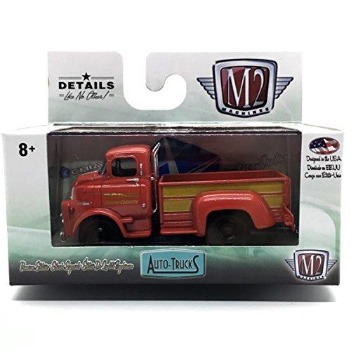 (M2 Machines 1958 Dodge COE Truck (Bright Red & Gold Panels) Auto-Trucks Series Release 38-2016 Castline Premium Edition 1:64 Scale Die-Cast Vehicle (R38 16-21))
