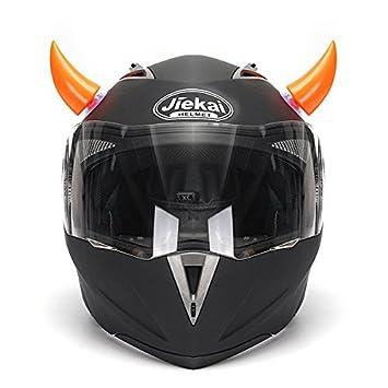 Lovinn - Casco de Motocicleta, Accesorios ventosas hornos decoración Naranja