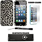 Gray and Black Leopard 2 piece Cover Shield Protector Case For Apple iPod Touch 5 ( 5th Generation) 32GB, 64GB