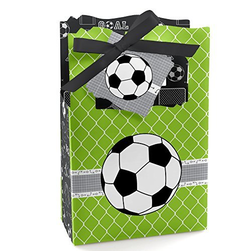 GOAAAL! - Soccer - Baby Shower or Birthday Party Favor Boxes - Set of 12