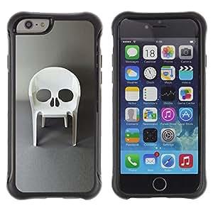 """Pulsar iFace Series Tpu silicona Carcasa Funda Case para Apple (4.7 inches!!!) iPhone 6 , Diseño de la silla Muebles cráneo del vampiro"""""""