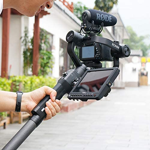Alician for Ulanzi Carbon Fiber Extend Rod Pole Stick for DJI Ronin S Crane V2 2 Plus Feiyu G6 G5 AK4000 A2000 Moza Air 2 Telescopic Handheld Bar