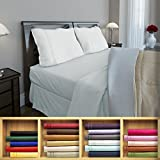 Clara Clark 1800 series Silky Soft 4 piece Bed Sheet Set Queen Size, White