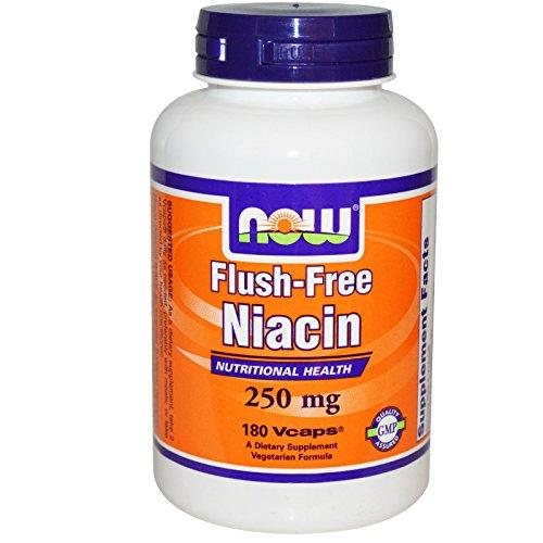 Flush Free Niacin 250mg 180 VegiCaps (Pack of 2)