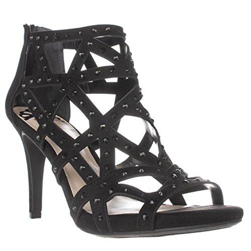 Fergalicious Womens Histeria2 Fabric Open Toe Casual Strappy Sandals Black GGHuOnoFo
