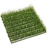 SilksAreForever 9.5''x9.5'' Grass Artificial Mat -Light Green (pack of 12)