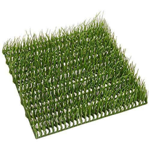 SilksAreForever 9.5''x9.5'' Grass Artificial Mat -Light Green (pack of 12) by SilksAreForever