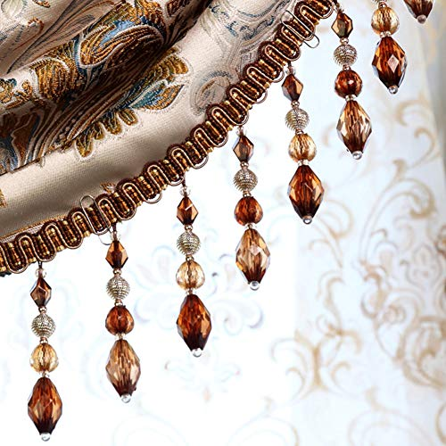 (Wildgirl Curtain Macrame Braid Crystal Bead Pendant Gimp 1 Meter (# 23))