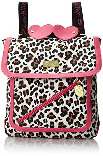 LUV BETSEY by Betsey Johnson LB Zip Convertible Backpack, Leopard, One Size