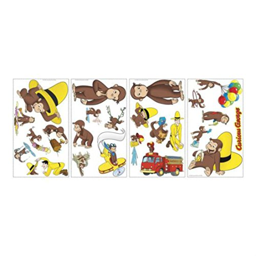 CURIOUS GEORGE wall stickers 24 decals Monkey Balloons Fire Truck (Curious George Toy Box)