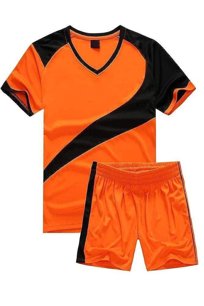 KINDOYO Niño Hombres Trajes de Fútbol Ropa Deportiva Conjunto de Camiseta y Pantalones  Cortos Traje de Competencia de Entrenamiento Deportivo  Amazon.es  ... 72ab4bc3f2c0d