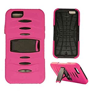 Cell Armor Novelty Case Apple Iphone 6 Case Kick Stand Cover (Pink, Black) AT&T, T-Mobile, Sprint, Verizon, Boost Mobile, U.S Cellular, Cricket by mcsharks